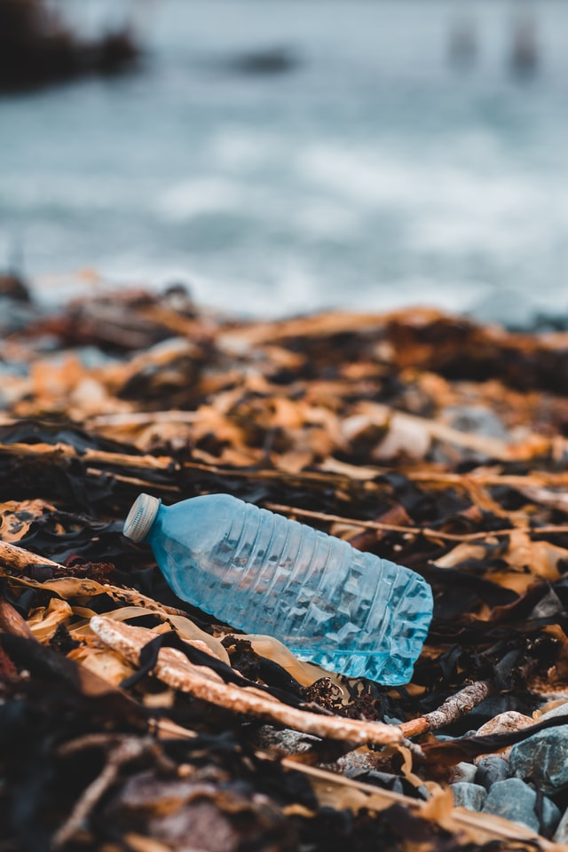 Empty plastic bottle litter
